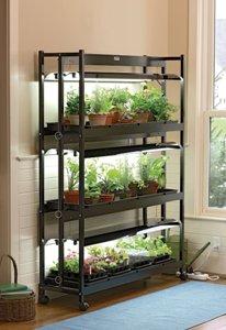 SunLites 3 Shelf Grow Light Stand for Indoor Gardens