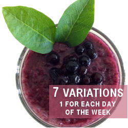 Blueberry and Aroniaberry Smoothie