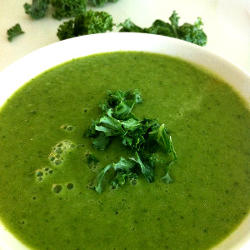 Kale, Pea and Avocado Soup